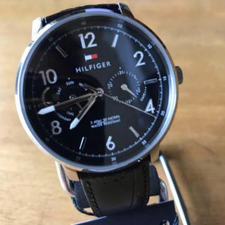 TOMMY HILFIGER - 新品✨トミー ヒルフィガー クオーツ メンズ 腕時計 1791356 ブラック