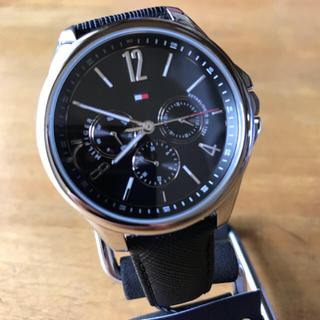 TOMMY HILFIGER - 新品✨トミー ヒルフィガー クオーツ メンズ 腕時計 1781822 ブラック