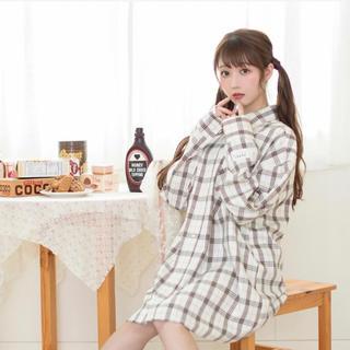 ハニーシナモン(Honey Cinnamon)の【unisex】BIGチェックシャツ honey cinnamon(Tシャツ(長袖/七分))