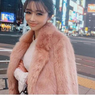エイミーイストワール(eimy istoire)のeimy istoire♡新品タグ付き♡ロングファーコート♡ピンク(毛皮/ファーコート)