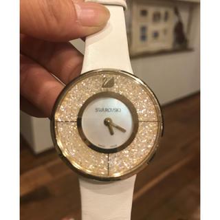 SWAROVSKI - スワロフスキー社★白×ゴールド腕時計