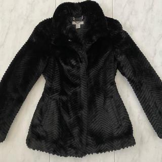 エイチアンドエム(H&M)のH&M ファーコート ジャケット 34 XS〜Sサイズ 黒 アウター(毛皮/ファーコート)