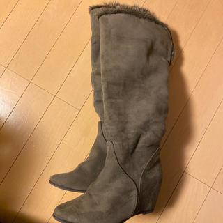 ユナイテッドアローズ(UNITED ARROWS)のユナイテッドアローズファーつきロングブーツ37(ブーツ)
