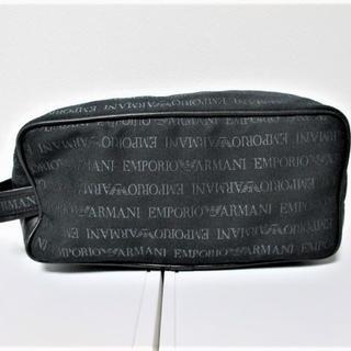 エンポリオアルマーニ(Emporio Armani)の☆エンポリオアルマーニ 総柄 セカンドバッグ バッグ/メンズ☆ブラック(セカンドバッグ/クラッチバッグ)