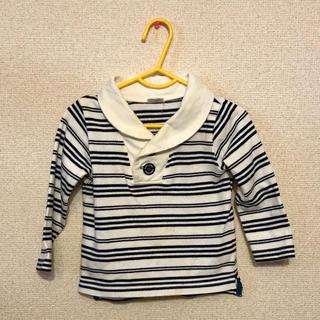 アカチャンホンポ(アカチャンホンポ)の襟付きシャツ 長袖 ボーダー サイズ90(Tシャツ/カットソー)