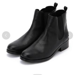 サイドゴアブーツ ブラック
