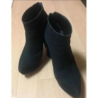 EMODA - 値下げ♡EMODA トライアングル ヒール ショートブーツ ブラック