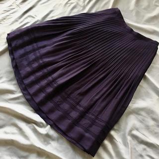 ロペ(ROPE)のロペ プローツスカート パープル S(ひざ丈スカート)