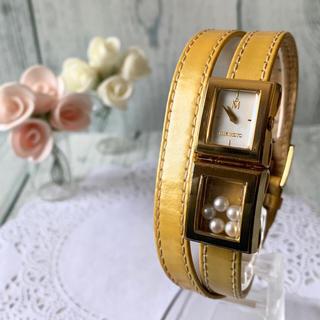 MIKIMOTO - 【電池交換済み】MIKIMOTO ミキモト 腕時計 二重ベルト パール ゴールド