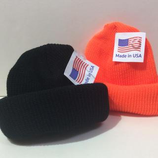 ロスコ(ROTHCO)のロスコニット帽 ブラック&オレンジ  2個SET(ニット帽/ビーニー)