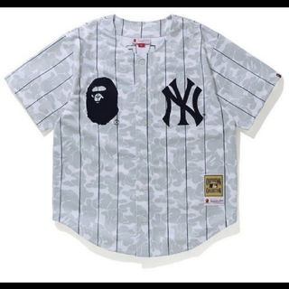 A BATHING APE - Lサイズ bape mitchell ness new york yankees