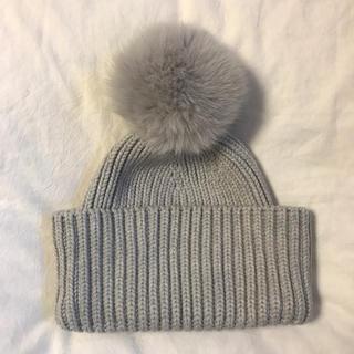 ドゥロワー(Drawer)のDrawer ニット帽  フォックスファー ポンポン ドゥロワー(ニット帽/ビーニー)