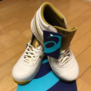 アシックス(asics)のアシックス 安全靴 71S  ホワイト×ゴールド 26cm(スニーカー)