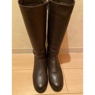 バークレー(BARCLAY)のBARCLAY KISCO ロングブーツ こげ茶 24.5cm(ブーツ)
