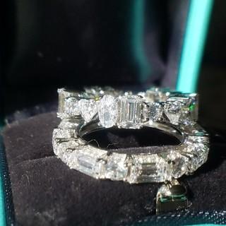 新作!最高級sonaダイヤモンド  マルチシェイプフルエタニティリング(リング(指輪))