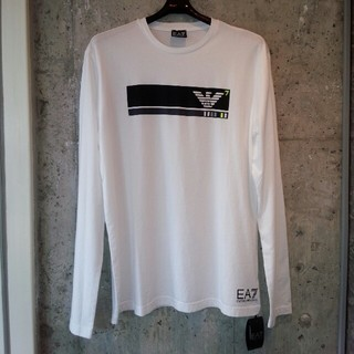 Emporio Armani - EMPORIO ARMANI  長袖Tシャツ  ホワイト  XL