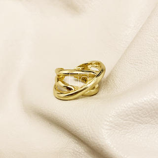 TODAYFUL - Triple line gold ring No.220