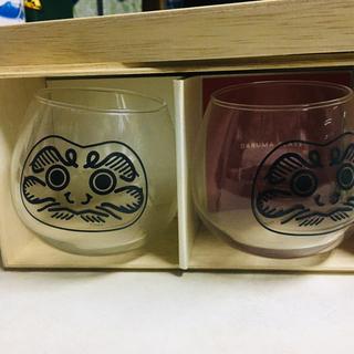 ウニコ(unico)の【unico】DARUMA GLASS 2PCS【未使用品】(グラス/カップ)