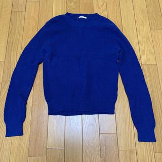 ジーユー(GU)のGU ニット ブルー ロイヤルブルー レディース セーター (ニット/セーター)