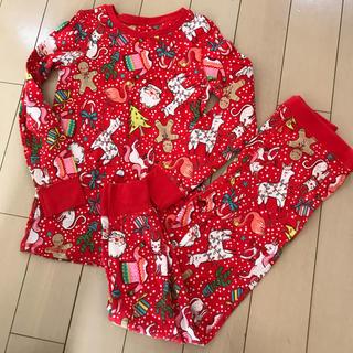 NEXT - 美品 next クリスマス柄 パジャマ レッド