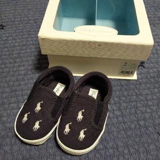 ラルフローレン(Ralph Lauren)の【ほぼ未使用】ラルフローレン 靴 ネイビー 11センチ (スリッポン)