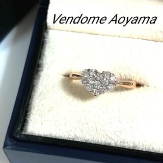Vendome Aoyama - ヴァンドーム青山 K18ハートパヴェダイヤモンドリング 10.5号