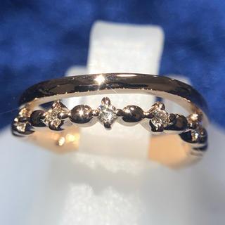 ヨンドシー(4℃)のk18pg リング 指輪 4°C 18金 ダイヤモンドリング 指輪 おしゃれ(リング(指輪))