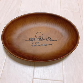 SNOOPY - スヌーピー 木製皿 楕円形