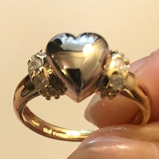 18金 プラチナダイヤモンド ハートリング(リング(指輪))