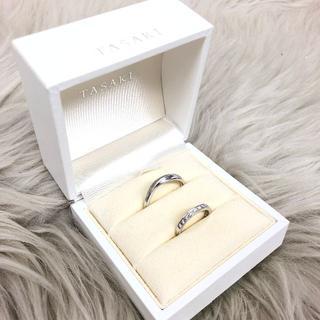 タサキ(TASAKI)のタサキ ダイヤモンド 結婚指輪 PT950(リング(指輪))
