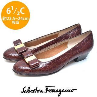 Salvatore Ferragamo - 美品❤️フェラガモ ヴァラリボン パンプス 6 1/2C(約23.5-24