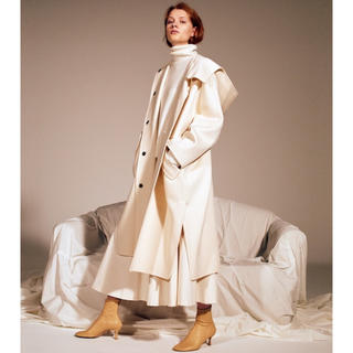 ルシェルブルー(LE CIEL BLEU)のルシェルブルー Hooded Over Coat ホワイト(ロングコート)