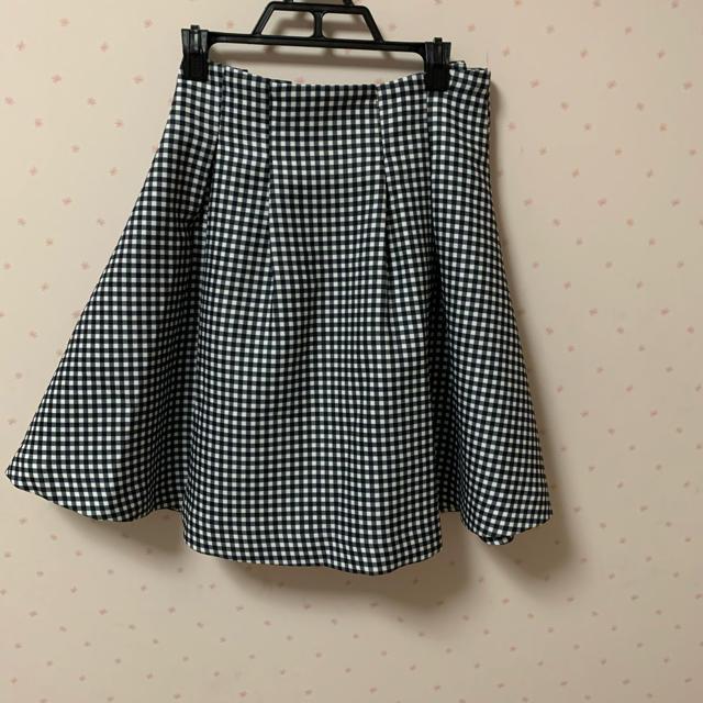 titty&co(ティティアンドコー)のtitty&Co. チェックフレアスカート レディースのスカート(ひざ丈スカート)の商品写真