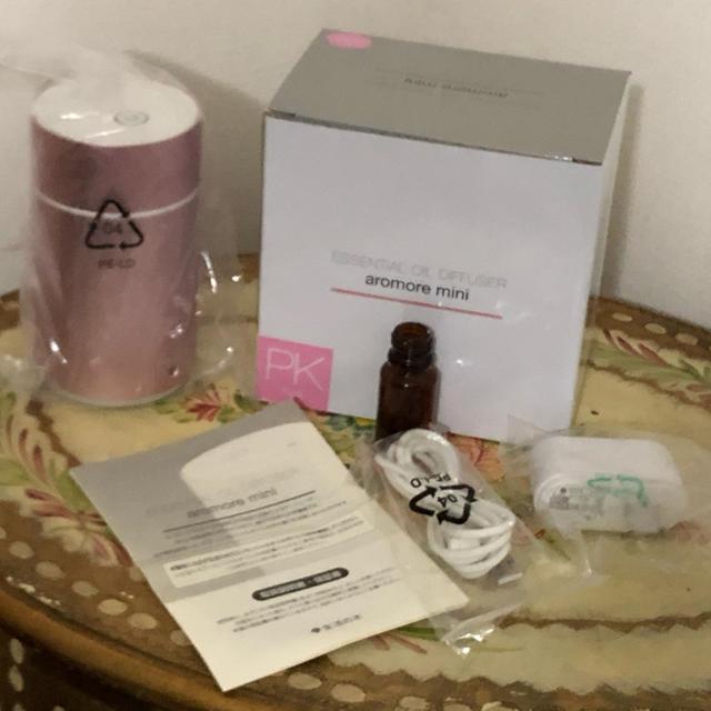 生活の木(セイカツノキ)の生活の木 エッセンシャルオイル ディフューザー アロモアミニ ピンク コスメ/美容のリラクゼーション(アロマディフューザー)の商品写真
