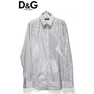ドルチェアンドガッバーナ(DOLCE&GABBANA)の正規品Dolce & Gabbanaデザインストライプシャツ/40(シャツ)