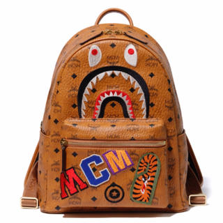 A BATHING APE - MCM × BAPE SHARK STARK BACKPACK バックパック