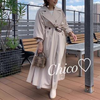 who's who Chico - 1点のみ♡ サイドプリーツトレンチコート ヘザー ナイスクラップ スナイデル