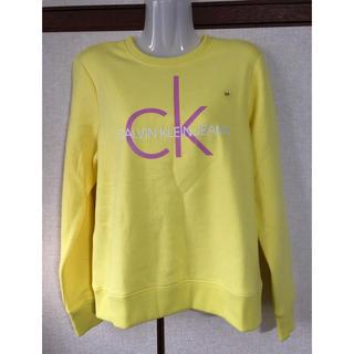 カルバンクライン(Calvin Klein)のレア!カルバンクライン CKロゴ スウェット トレーナー 黄色 S(トレーナー/スウェット)