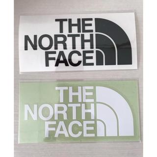 ザノースフェイス(THE NORTH FACE)のザノースフェイス ステッカー 白黒1枚セット(ステッカー)