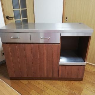ウニコ(unico)の【値下げ】unico STRADA キッチンカウンター中古(キッチン収納)