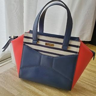 kate spade new york - ケイト・スペード♥️2パークアベニュー スモール ボウ ハンドバッグ 赤×紺