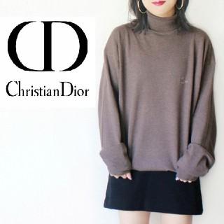 クリスチャンディオール(Christian Dior)の【希少!】90s Christian Dior 綿100 タートルネック ニット(ニット/セーター)