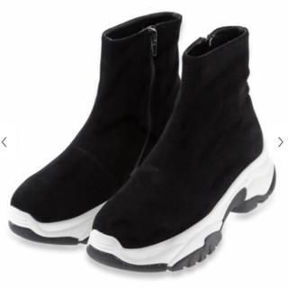 snidel - SNIDELスニーカーソールブーツ Lサイズ