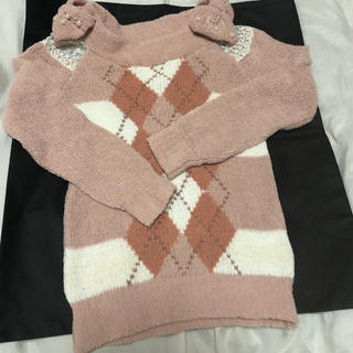 LIZ LISA - リズリサ☆肩の大きなリボンが可愛いピンクのセーター!