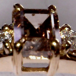 ブラウンダイヤモンドリング 15号 K18  0.56ct(リング(指輪))