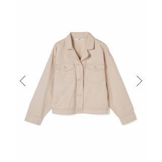 グレイル(GRL)のGRL オープンカラーシャツジャケット ライトベージュ 新作 韓国ファッション(Gジャン/デニムジャケット)