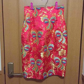 ミキオサカベ(MIKIO SAKABE)の値下げ ミキオサカベ チャイナスカート(ひざ丈スカート)