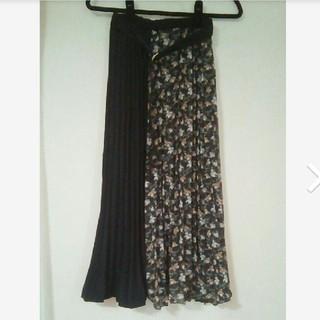 しまむら - 花柄 プリーツ ロングスカート