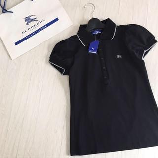 BURBERRY BLUE LABEL - 新品タグ付き☆バーバリーブルーレーベル パフスリーブ ポロシャツ 38サイズ