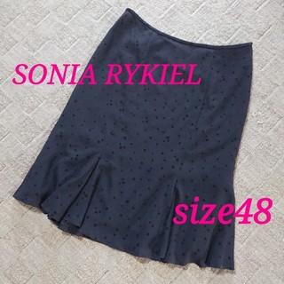 ソニアリキエル(SONIA RYKIEL)のソニアリキエル 大きいサイズ フレアスカート 48(19号)(ひざ丈スカート)